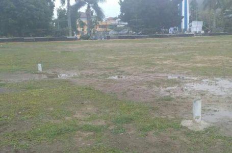 Tiang Gawang Lapangan Depati Bertujuh Sungai Penuh Ditebang OTK