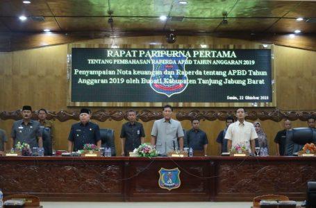 Bupati Sampaikan Rancangan Anggaran Belanja Daerah Tahun 2019